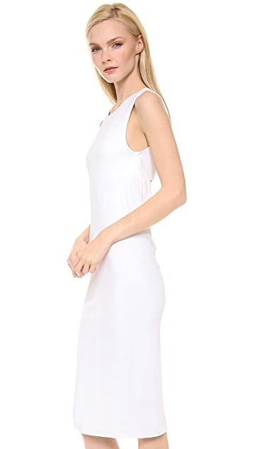 T by Alexander Wang Matte Jersey Sleeveless Back Cowl Dress