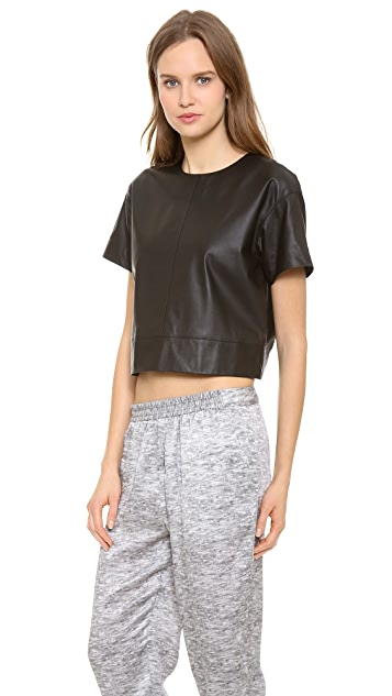 alexanderwang.t Lightweight Leather Tee
