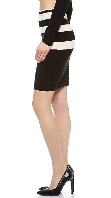 T by Alexander Wang Striped Knit Pencil Skirt