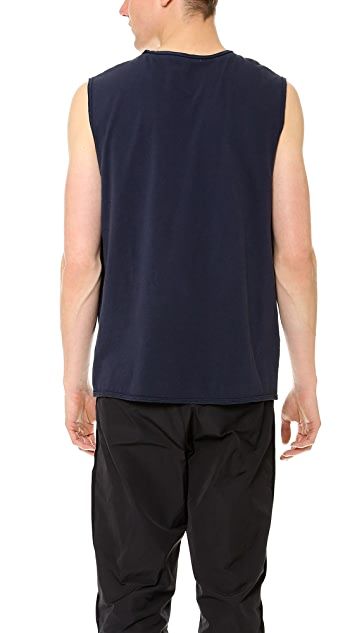 T by Alexander Wang Pigment Dyed Jersey Muscle Tee
