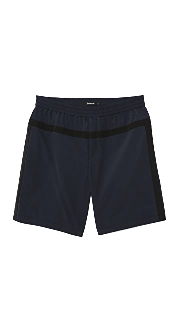T by Alexander Wang Nylon Grid Panel Trunks