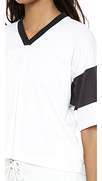 T by Alexander Wang Cropped Football Tee