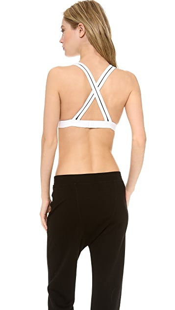 T by Alexander Wang Sandwashed Bra with Crisscross Back