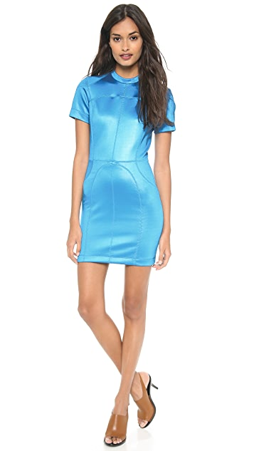 T by Alexander Wang Mock Neck Scuba Dress