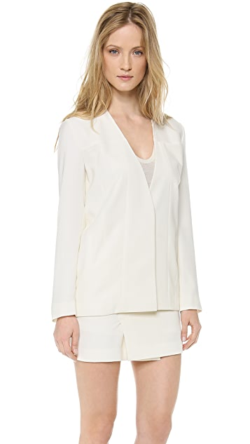 T by Alexander Wang Draped Suiting Jean Stitch Blazer