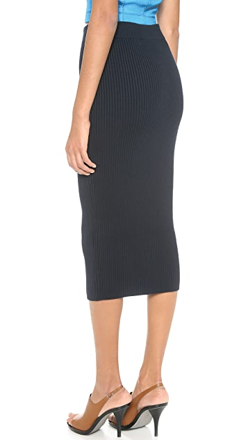T by Alexander Wang Two Way Zip Midi Skirt