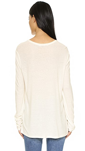 T by Alexander Wang Slub Classic Long Sleeve Tee