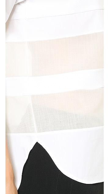 alexanderwang.t Cotton Poplin Stripe Tee