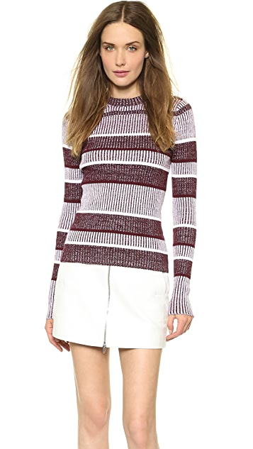 T by Alexander Wang Rib Long Sleeve Sweater