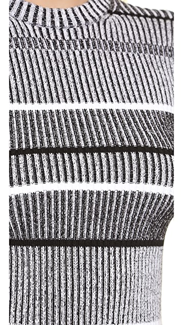 T by Alexander Wang Rib Knit Short Sleeve Dress