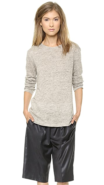 T by Alexander Wang Heathered Linen Long Sleeve Tee