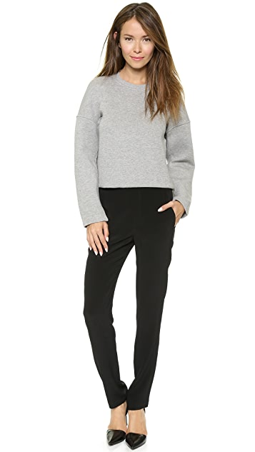 T by Alexander Wang Neoprene Crew Neck Sweatshirt