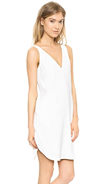 T by Alexander Wang V Neck Strap Dress