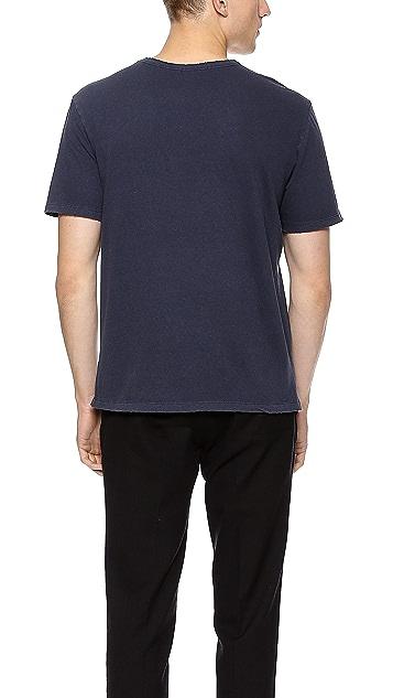 T by Alexander Wang Distressed Pocket T-Shirt