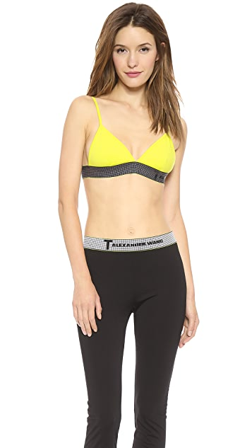 T by Alexander Wang High Density Luxe Ponte Triangle Bra