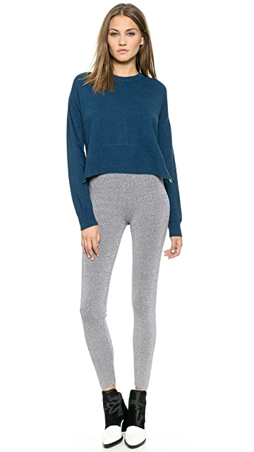 T by Alexander Wang Crew Neck Pullover with Pop Accent