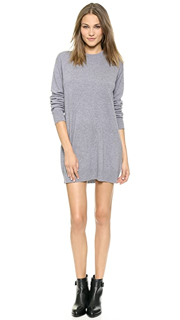 T by Alexander Wang Crew Neck Dress with Pop Accent