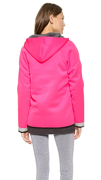 T by Alexander Wang Bonded Fleece Reversible Hooded Jacket