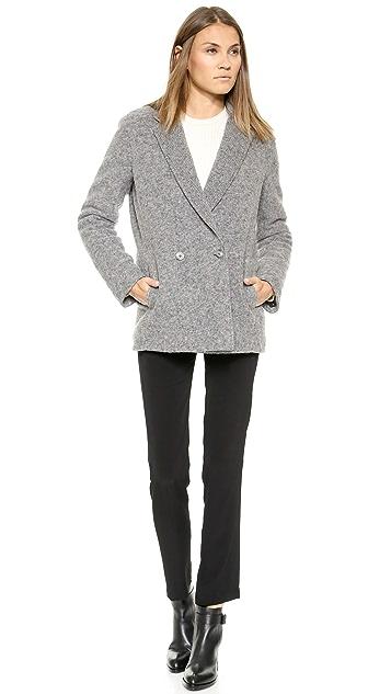 T by Alexander Wang Felt & Nylon Reversible Coat