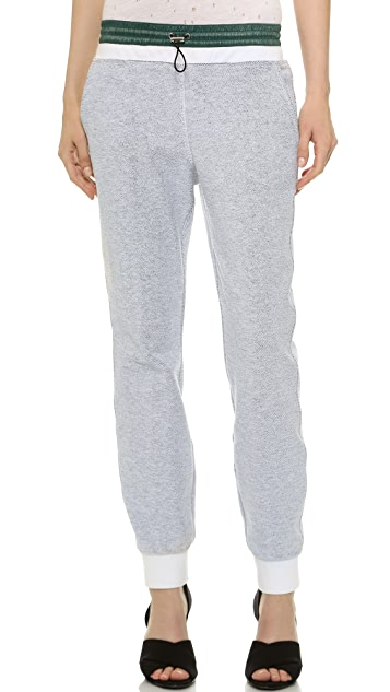 T by Alexander Wang French Terry & Nylon Sweatpants