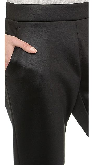 T by Alexander Wang Shiny Bonded Fleece Pants