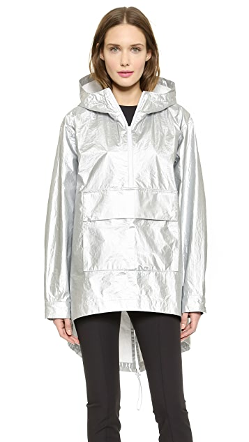 T by Alexander Wang Laminated Tyvek Hooded Anorak