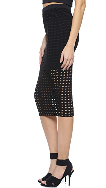 T by Alexander Wang Circular Knit Pencil Skirt