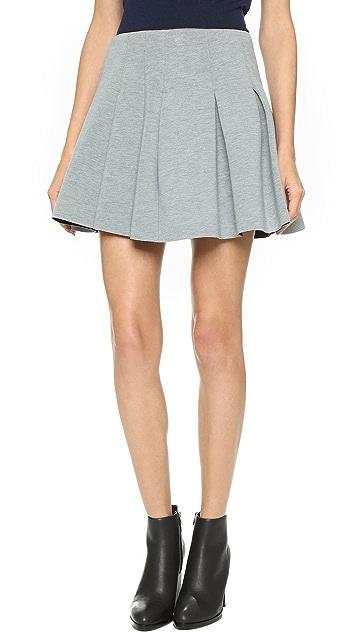 2157b8864ba alexanderwang.t Scuba Neoprene Box Pleat Skirt