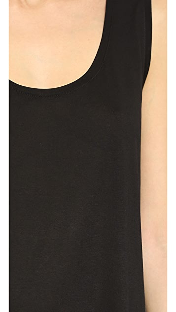 T by Alexander Wang Classic Low Neck Flared Tank