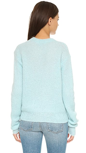 T by Alexander Wang Mohair Crew Neck Sweater