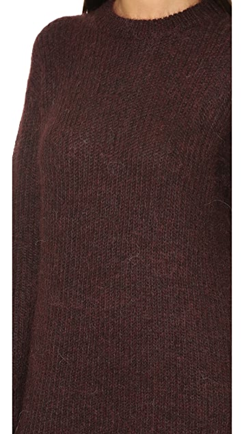 T by Alexander Wang Mohair Knit Tunic Dress