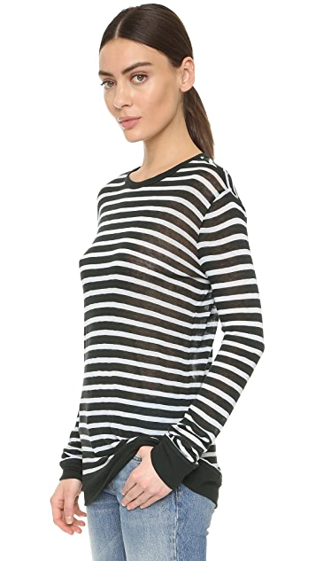 alexanderwang.t Striped Long Sleeve Tee