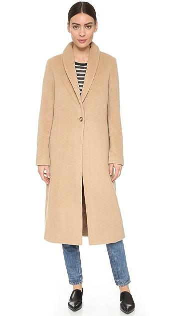 T by Alexander Wang Shawl Collar Long Coat