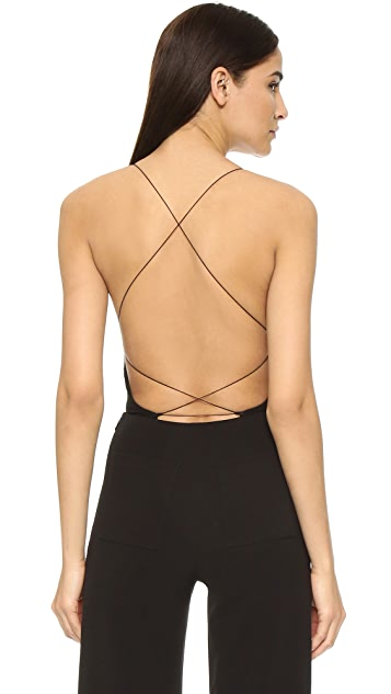 T by Alexander Wang Criss Cross Back Bodysuit