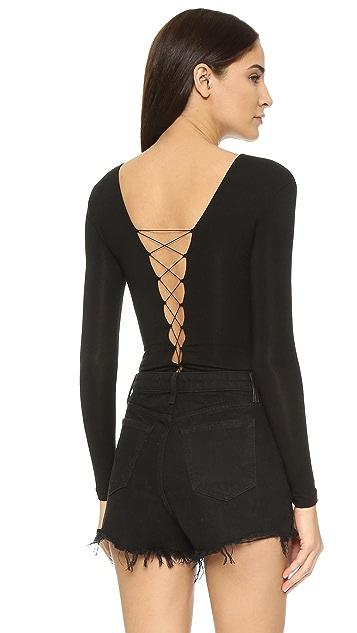 alexanderwang.t Lace Up Bodysuit