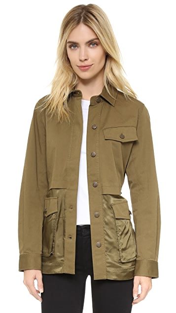 T by Alexander Wang Military Combo Parka