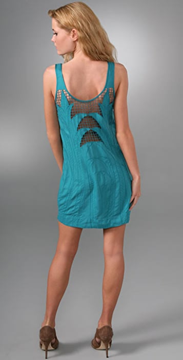 Twelfth St. by Cynthia Vincent Embroidered Cutout Dress