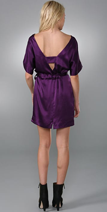 Twelfth St. by Cynthia Vincent V Back Tie Waist Dress