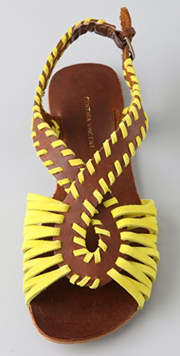 Twelfth St. by Cynthia Vincent Frisco Whipstitch Flat Sandals