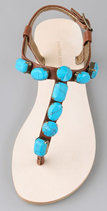 Twelfth St. by Cynthia Vincent Jewel Thong Sandals