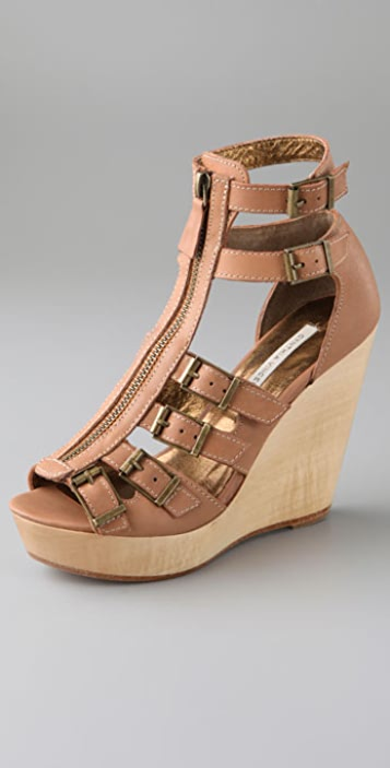 Twelfth St. by Cynthia Vincent Luella Zip Wedge Sandals