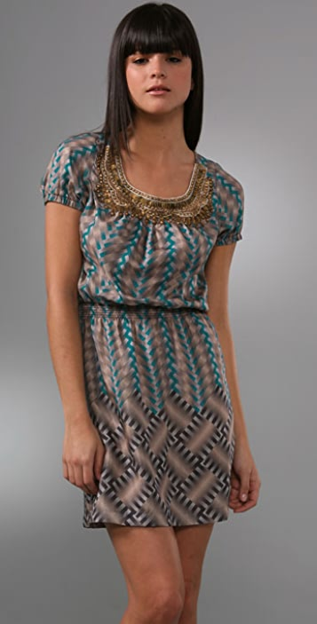 Twelfth St. by Cynthia Vincent Open Back Beaded Dress