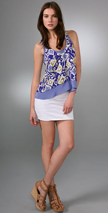 Twelfth St. by Cynthia Vincent Double Layer Racer Back Tank