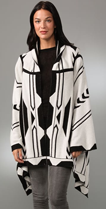 Twelfth St. by Cynthia Vincent Reversible Blanket Cardigan
