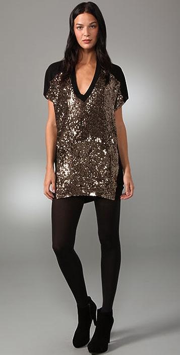 4029114b4174 Twelfth St. by Cynthia Vincent Gold Sequin T-Shirt Dress   SHOPBOP