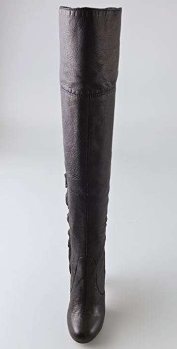 Cynthia Vincent Leather Over-The-Knee Boots looking for free shipping clearance countdown package cheap online clearance low price fee shipping Z0P7iOnmI