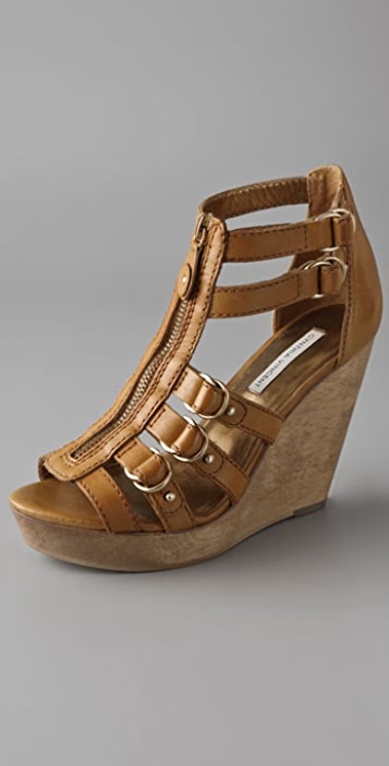 Twelfth St. by Cynthia Vincent Jagger Zip Front Wedge Sandals