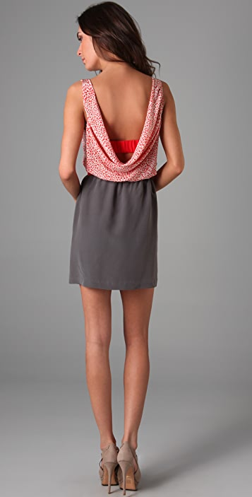 Twelfth St. by Cynthia Vincent Cowl Back Combo Dress