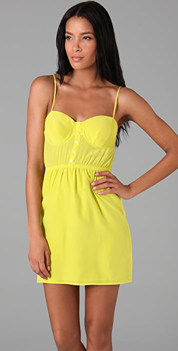 Twelfth St. by Cynthia Vincent Placket Front Bra Cup Dress