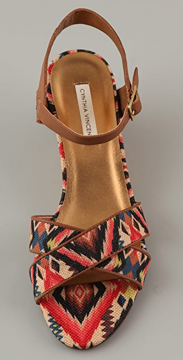 Twelfth St. by Cynthia Vincent Lita Low Wedge Sandals
